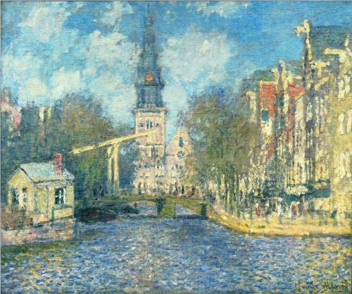 Zuiderkerk by Claude Monet (1874?)